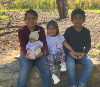 Jazmin Gonzalez's four children -- three boys and one girl.